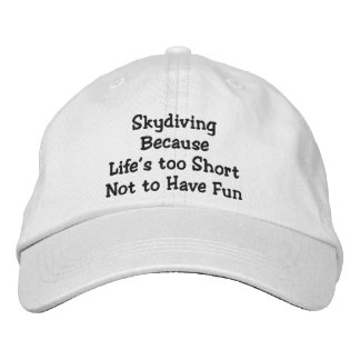Skydiving Because Personalised Adjustable Hat Baseball Cap