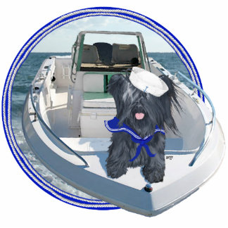 Skye Terrier out on the Boat Standing Photo Sculpture