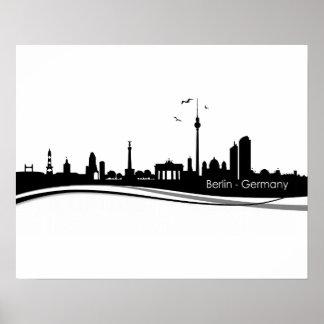 Skyline Berlin Posters