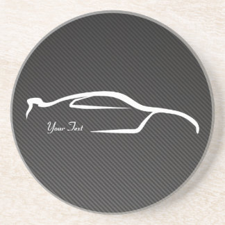 Skyline Faux Carbon Fiber Coaster