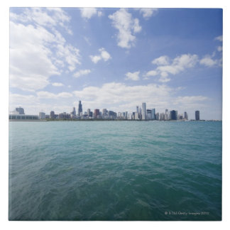 Skyline of Chicago from Lake Michigan, Illinois, Tile