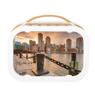 Skyline of Financial District of Boston Lunch Boxes