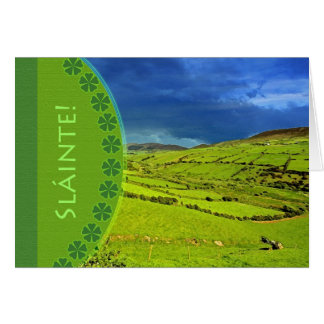 Sláinte! Cheers From Ireland, Good Luck to You Greeting Card