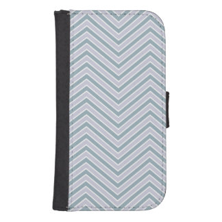 Slate Blue and Lavender Chevron Samsung S4 Wallet Case