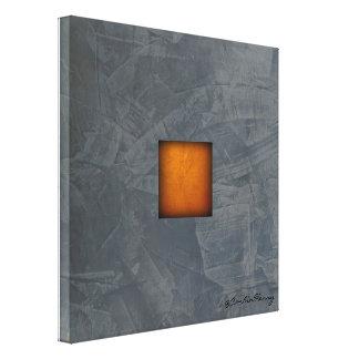 Slate Gray Gold Stucco Modern Art Canvas Print