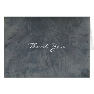 Slate Gray Stucco Thank You Card