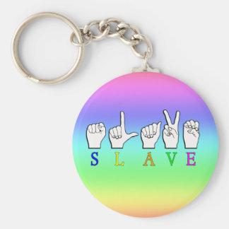 SLAVE ASL FINGERSPELLED KEYCHAINS
