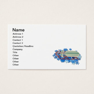 Sled on Snow Flakes Business Card