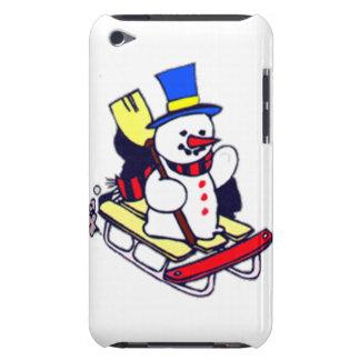 Sledding Snowman iPod Case-Mate Cases