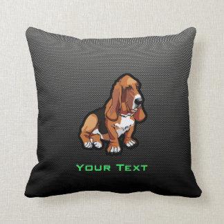 Sleek Basset Hound Throw Pillow