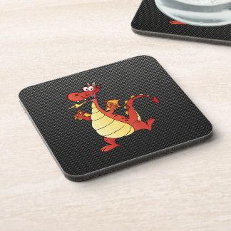 Sleek Cartoon Dragon Beverage Coaster