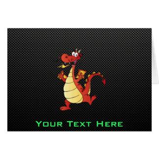 Sleek Cartoon Dragon Greeting Card