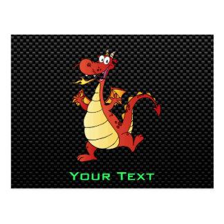 Sleek Cartoon Dragon Post Cards
