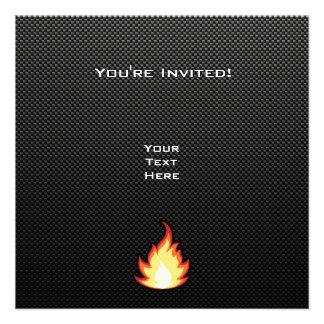 Sleek Fire Flame Invitation