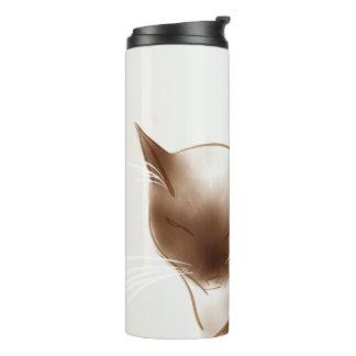 Sleek Siamese Cat Mug Thermal Tumbler