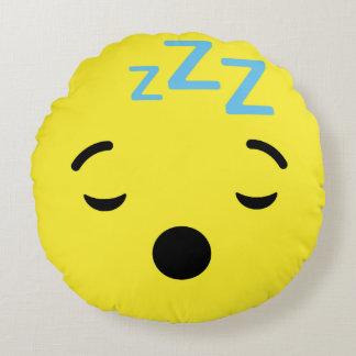 Sleep Face Emoji / Smiley Round Cushion
