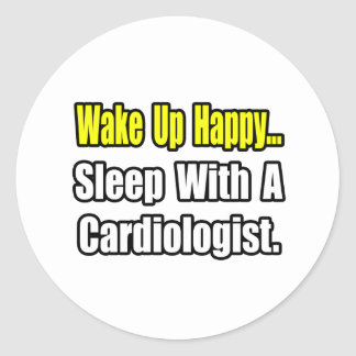Sleep With a Cardiologist Stickers