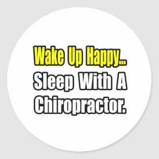 Sleep With a Chiropractor Stickers