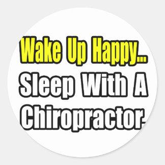 Sleep With a Chiropractor Round Stickers