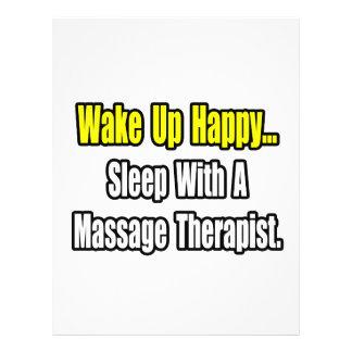 Sleep With A Massage Therapist Flyer Design
