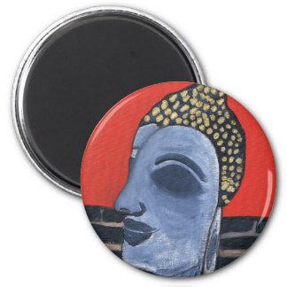 sleeping buddha Round Magnet