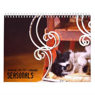 Sleeping cats 2017 wall calendar