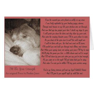 sleeping old akita dog animal sympathy poem card