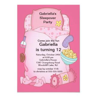 Sleepover Birthday Party Card