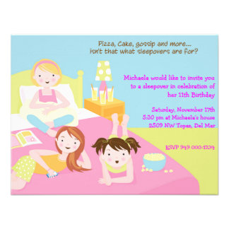 Sleepover Party Announcement
