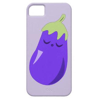 Sleepy Baby Eggplant iPhone case