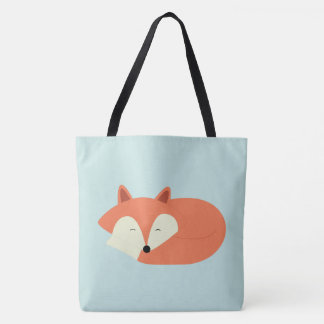 Sleepy Baby Red Fox Tote Bag
