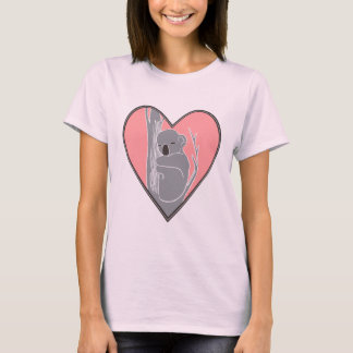 Sleepy Koala Pink Heart Women's Nano T-Shirt