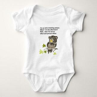 Sleepy Owl Baby Bodysuit