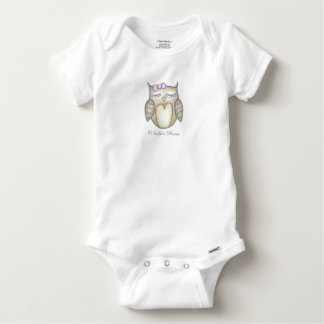 Sleepy Owl Baby Bodysuit - Customize Text