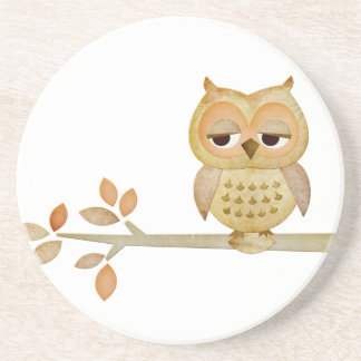 Sleepy Owl in Tree Coaster