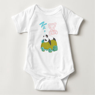 Sleepy panda baby bodysuit