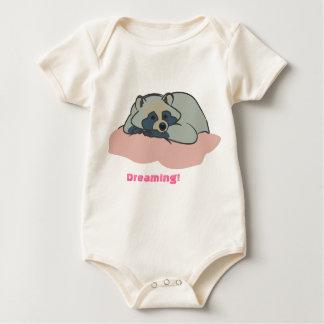 Sleepy Raccoon Baby Bodysuit