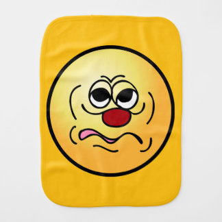 Sleepy Smiley Face Grumpey Burp Cloth