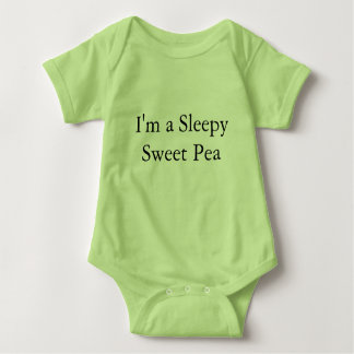 Sleepy Sweet Pea Baby One-Piece Body suit Baby Bodysuit