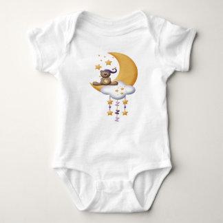 sleepy teddy on moon baby shirt