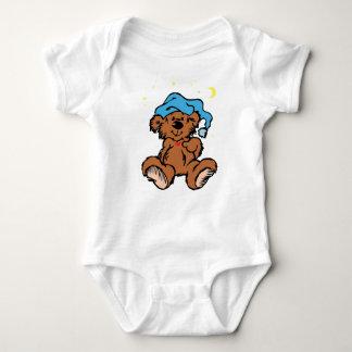 Sleepy Time Teddy Bear Baby Bodysuit