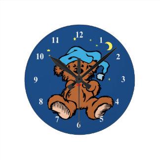 Sleepy Time Teddy Bear Wallclock