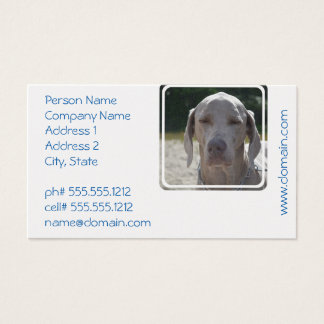 Sleepy Weimaraner Business Card