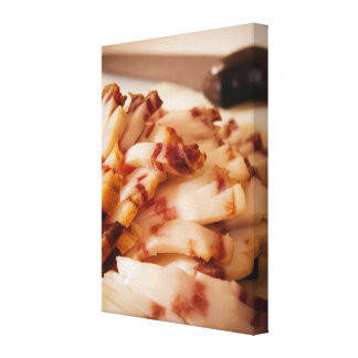 Sliced bacon canvas print