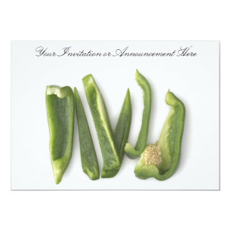 Sliced Green Bell Peppers 13 Cm X 18 Cm Invitation Card