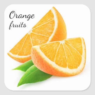 Slices of orange square sticker