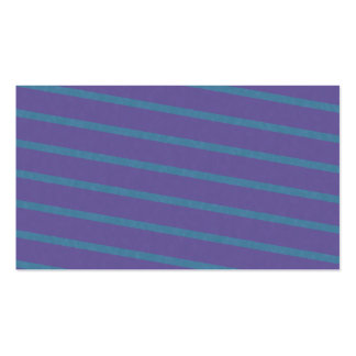 Slightly Diagonal Stripes in Purple and Blue Business Card Template