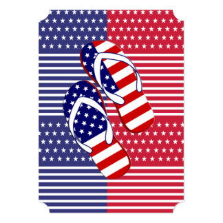 Slip On Over July 4th Party Invitation