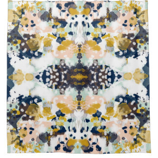 Sloane abstract paintned painterly shower curtain
