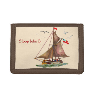Sloop John B Trifold Wallets